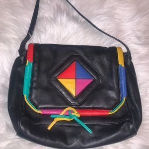 Vintage 80's color block bag